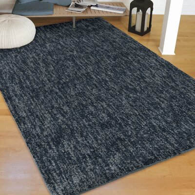 Catalan Solid Design Indigo/Blue Area Rug Size: Rectangle 76 X 1010