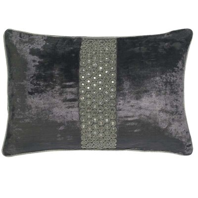 Mcgruder Crystals Velvet Pillow Cover Color: Pewter