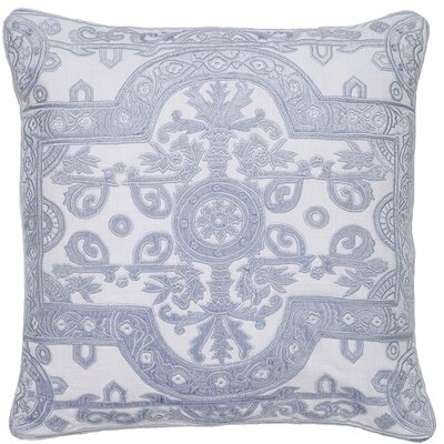 Ivymore Louis Applique Embroidery Pillow Cover Color: Skyblue