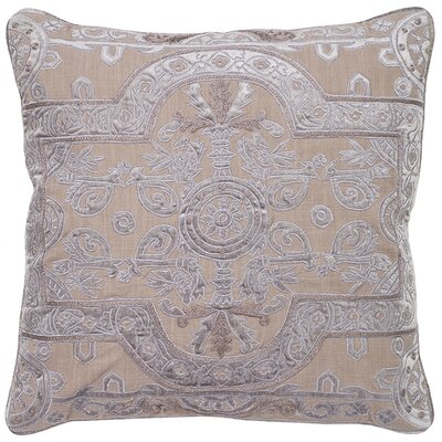 Ivymore Louis Applique Embroidery Pillow Cover Color: Gray