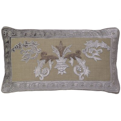 Ivanbrook Venezia Applique Embroidery Pillow Cover Color: Gray