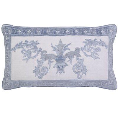 Ivanbrook Venezia Applique Embroidery Pillow Cover Color: Skyblue