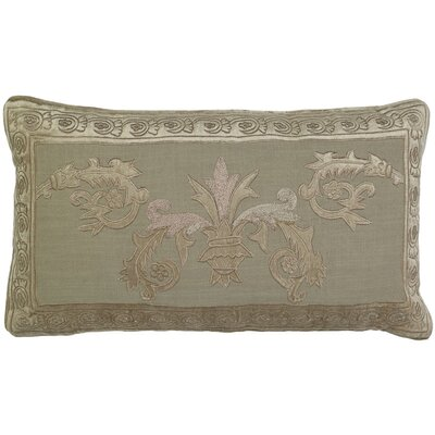 Ivanbrook Venezia Applique Embroidery Pillow Cover Color: Beige
