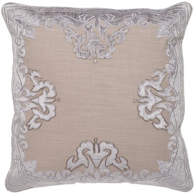 Islington Aviva Applique Embroidery Pillow Cover Color: Gray