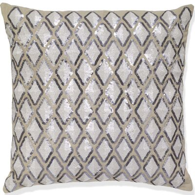 Mcgrew Diamond Sequin Linen Pillow Cover