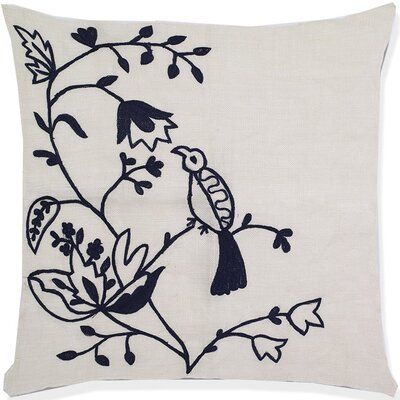 Gaige Birds of Paradise Crochet Linen Pillow Cover