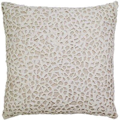 Outland Crochet on Natural Linen Pillow Cover