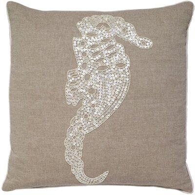 Hillside Avenue Seahorse Pearl and Embroidery Cotton Pillow Cover