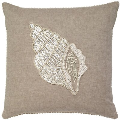 Hilley Conch Bead and Embroidery Cotton Pillow Cover