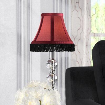 Fringe 6 Silk Bell Lamp Shade Color: Burgundy with Black Fringe