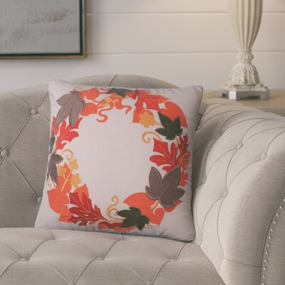 Ehlinger Harvest Wreath Cotton Throw Pillow