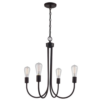 Westbury Park 4-Light Candle-Style Chandelier Finish: Rubbed Oil Bronze