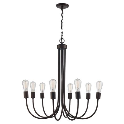 Westbury Park 8-Light Candle-Style Chandelier Finish: Rubbed Oil Bronze