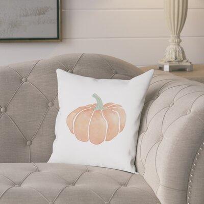 Piner Harvest Pumpkin Cotton Throw Pillow