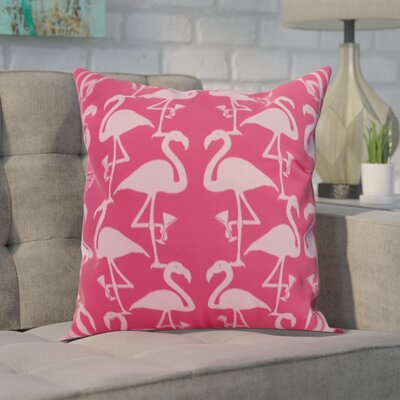 Carmack Flamingo Throw Pillow Color: Pink/Light Pink, Size: 18 x 18
