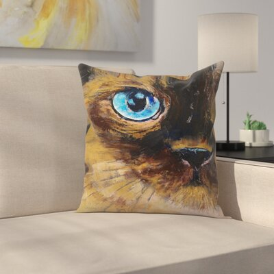 Michael Creese Tonkinese Cat Throw Pillow Size: 14 x 14