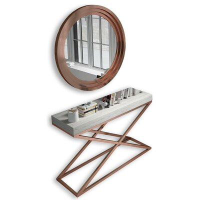 Laivai Console Table and Mirror Set BCDB2BFC96C4449CBC258129AA8FF2EF