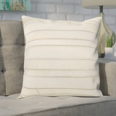 Ince Stripes Throw Pillow Color: Ivory