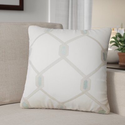 Kemo Geometric Throw Pillow Color: Aqua/Cocoa