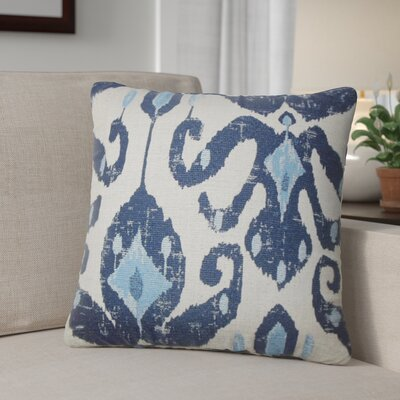 Tashani Ikat Throw Pillow Color: Navy