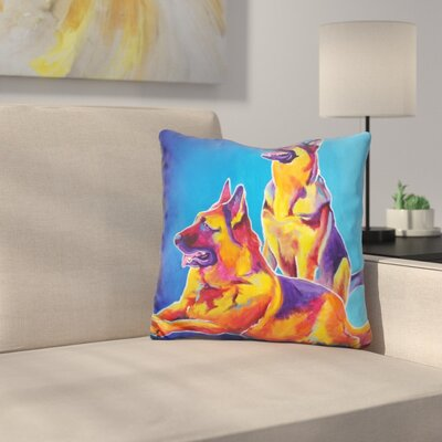 Erin and Eiko Throw Pillow