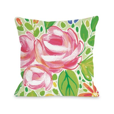 Parra Flowers Throw Pillow Size: 16 x 16