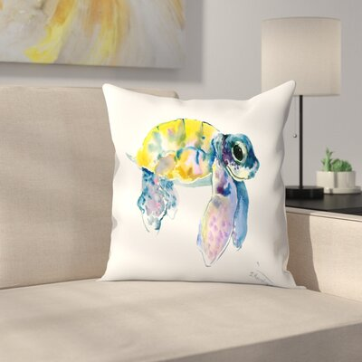 Suren Nersisyan Baby Sea Turtles 4 Throw Pillow Size: 14 x 14