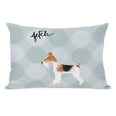 Daka Fox Terrier Lumbar Pillow