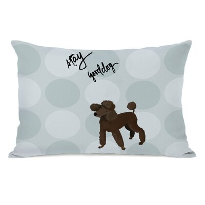 Dure Pup Words Poodle Lumbar Pillow