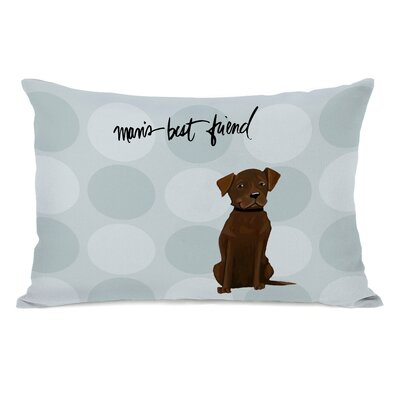 Arjune Chocolate Lab Lumbar Pillow