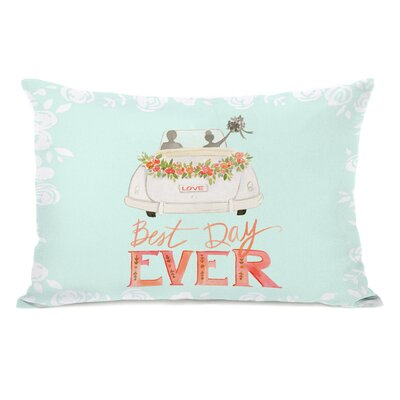Gaspah Best Day Ever Car Lumbar Pillow