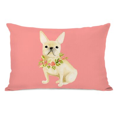 Soares Frenchie Flower Collar Lumbar Pillow