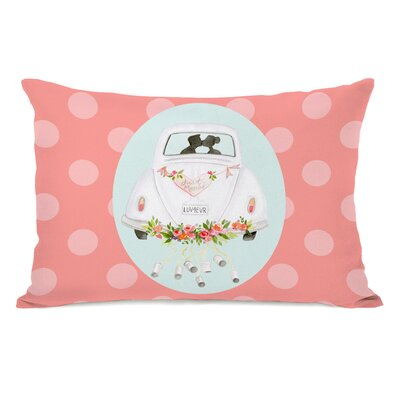 Baeumel Just Married Bug Lumbar Pillow