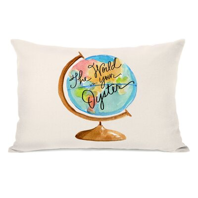 McAfee The World is your Oyster Globe Lumbar Pillow