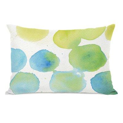 Petrosky Watercolor Polka Dots Lumbar Pillow