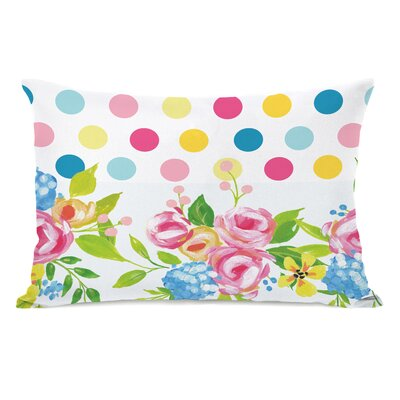 Petry Floral Dots Lumbar Pillow