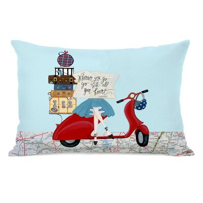 Wuest Wherever You Go Map Lumbar Pillow