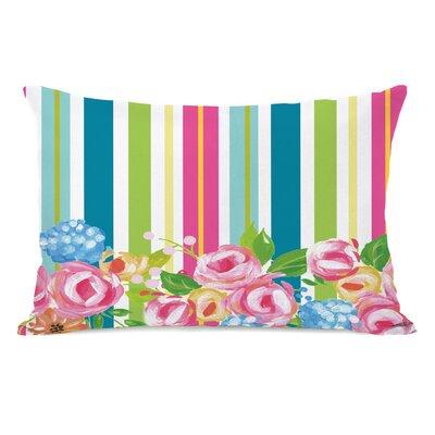Pettengill Colorful Flower Stripes Lumbar Pillow
