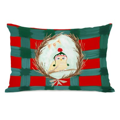 Eaker Joy Owl Plaid Lumbar Pillow
