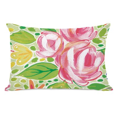 Parra Flowers Lumbar Pillow