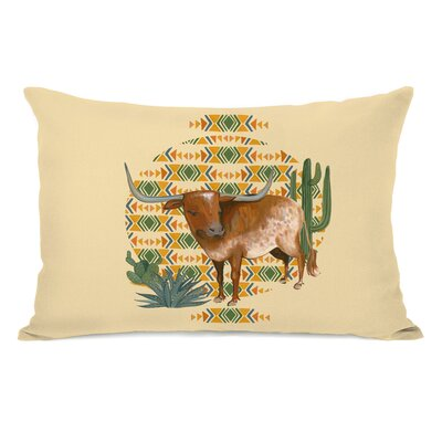 Spires Texas Longhorn Lumbar Pillow