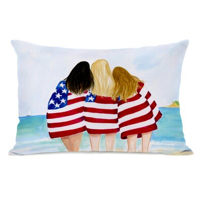 Hollenbeck American Girls Beach Lumbar Pillow