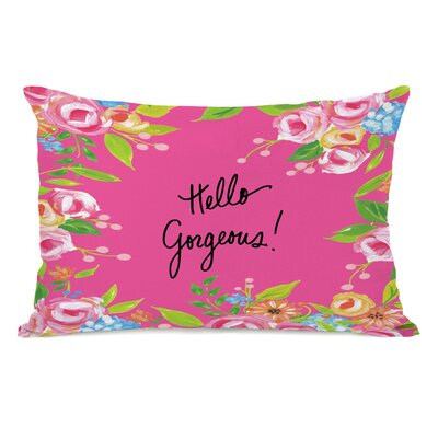 Wegener Hello Gorgeous Floral Lumbar Pillow