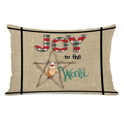 Jahn Joy to The World Owl Plaid Lumbar Pillow