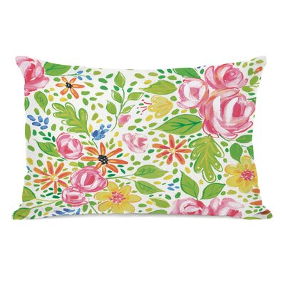 Feng Flowers Lumbar Pillow