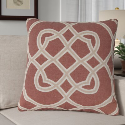 Kupfer Throw Pillow Size: 18 H x 18 W x 4 D, Color: Red Clay / Camel / Parchment, Filler: Down