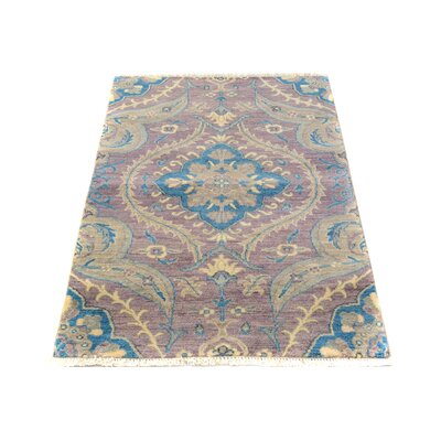 One-of-a-Kind Palmquist Hand-Knotted Wool Purple/Blue Area Rug