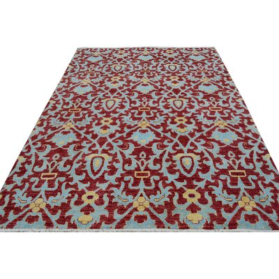 One-of-a-Kind Palmquist Hand-Knotted Wool Red/Blue Area Rug