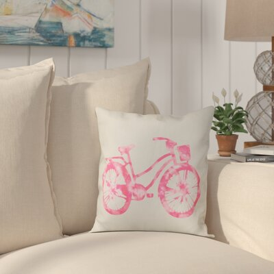 Golden Beach Life Cycle Geometric Throw Pillow Size: 26 H x 26 W, Color: Pink