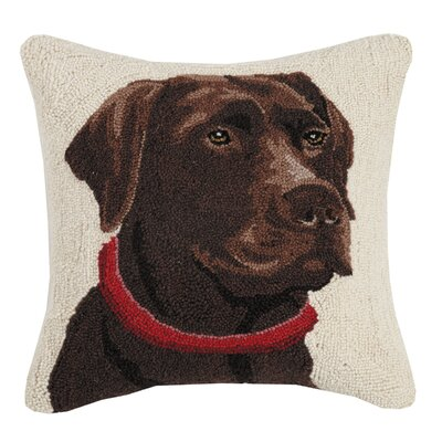 Newberry Chocolate Lab Wool Throw Pillow